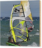 Windsurfing Wood Print