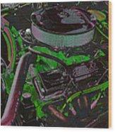 350 Battle Ax In Green Wood Print
