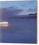 3525-0188-18, Misty Lake Tremblant Wood Print