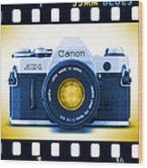 35mm Blues Canon Ae-1 Wood Print