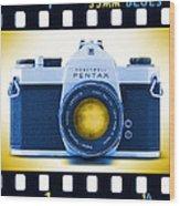 35mm Blues Pentax Spotmatic Wood Print