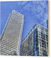 Canary Wharf London Wood Print