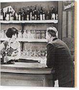 Silent Film Still: Drinking Wood Print by Granger