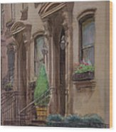36th Street Ny Residence Of Fdr Wood Print