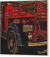 37 Ranch Truck Wood Print