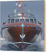 Iconic Thunderbird Yacht Wood Print