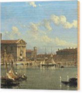 The Fontana Di S  Lucia In Naples Wood Print