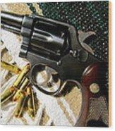 38 Revolver Wood Print