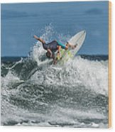 Surfing Fun Wood Print