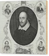 William Shakespeare (1564 - 1616) Wood Print