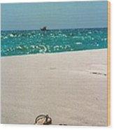 #384 33a Sandals On The Beach - Destin Florida Wood Print