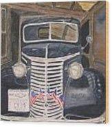 39 Chevy Wood Print