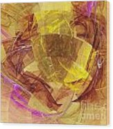 Colorful Abstract Forms Wood Print