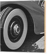 39 Lincoln Zephyr Fender  Wood Print