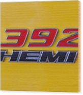 392 Hemi In Yellow Wood Print