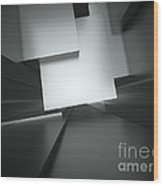 3d Abstract Architectural Background Wood Print