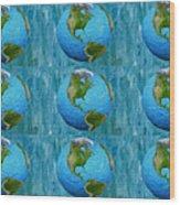 3d Render Of Planet Earth 1 Wood Print