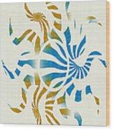 3d Spiral Art Wood Print