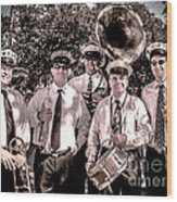 3rd Line Brass Band Wood Print by Renee Barnes