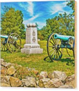 3rd Massachusetts Battery Gettysburg National Military Park Wood Print