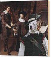 American Staffordshire Terrier Art Canvas Print Wood Print
