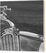 1942 Packard Darrin Convertible Victoria Hood Ornament Wood Print