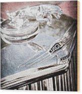 1948 Jaguar Mark Iv Drophead Coupe Hood Ornament Wood Print
