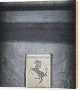 1956 Ferrari Emblem Wood Print