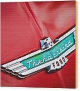 1956 Ford Thunderbird Emblem Wood Print