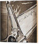 1957 Chevrolet Belair Taillight Emblem Wood Print