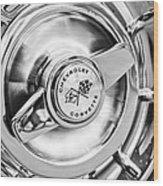 1957 Chevrolet Corvette Wheel Wood Print