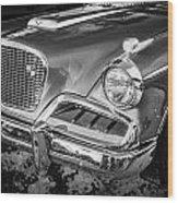 1957 Studebaker Golden Hawk Bw  Wood Print
