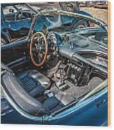 1959 Chevy Corvette Convertible Painted  Wood Print
