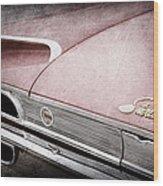 1960 Ford Galaxie Starliner Taillight Emblem Wood Print