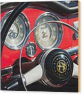 1961 Alfa Romeo Giulietta Spider Steering Wheel Emblem -1239c Wood Print