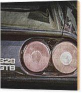 1989 Ferrari 328gtb Taillight Emblem Wood Print