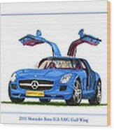 2010 Mercedes Benz S L S Gull-wing Wood Print