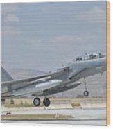 A Royal Saudi Air Force F-15 Wood Print