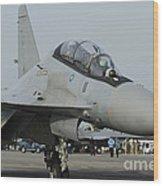 A Sukhoi Su-30mkm Of The Royal Wood Print
