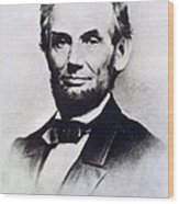 Abraham Lincoln Wood Print by Anonymous