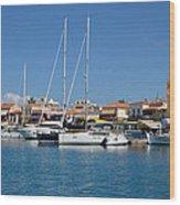 Aegina Port Wood Print