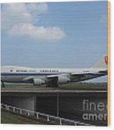 Air China Cargo Boeing 747 Wood Print