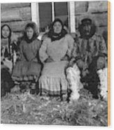 Alaska Eskimo Family Wood Print