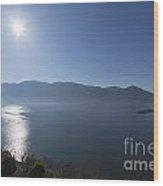 Alpine Lake With Mountain Wood Print