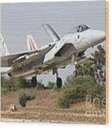 An F-15c Baz Of The Israeli Air Force Wood Print