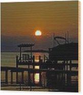 An Outer Banks North Carolina Sunset Wood Print