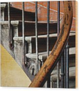 Ancient Staircase Wood Print