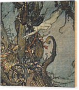 Andersen: Little Mermaid Wood Print