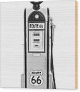 Antique Fuel Pump Wood Print