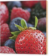 Assorted Fresh Berries Wood Print